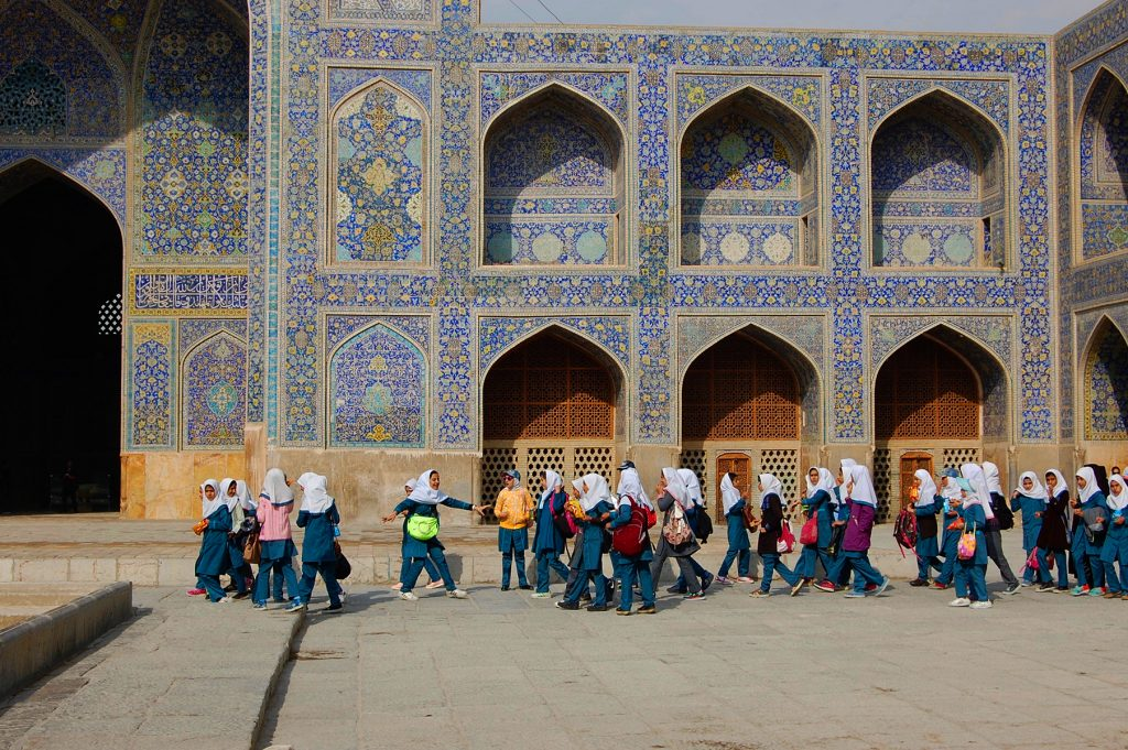 School girls on an outing in Isfahan.